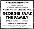Advert for concert in Wolverhampton on 9th December, 1969