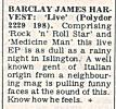 Review of Live EP, Record Mirror, 5th March, 1977