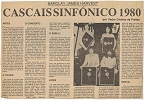 Portuguese review of Cascais gig on 11th March, 1980