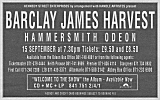 Advert for Hammersmith concert, 1990