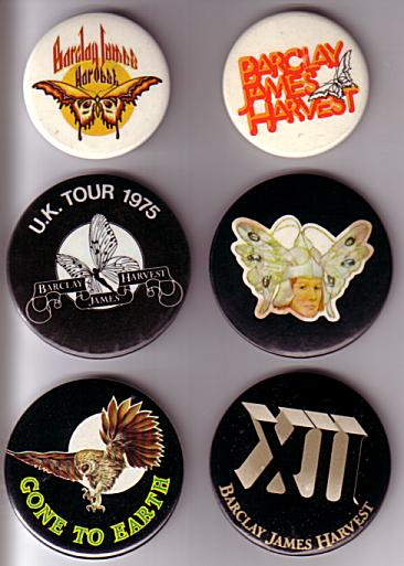 Six early BJH badges