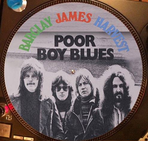 12 inch bootleg picture disc of 'Poor Boy Blues'