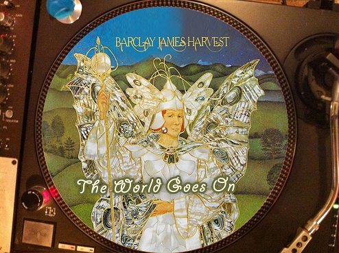 12 inch bootleg picture disc of 'The World Goes On'