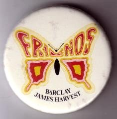 Friends Of Barclay James Harvest badge from 1977