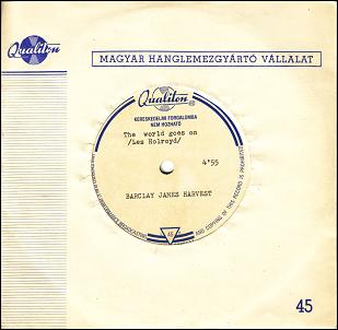 Barclay James Harvest Hungarian acetate of 'The World Goes On'