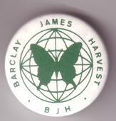 International Barclay James Harvest Fan Club badge from 1988