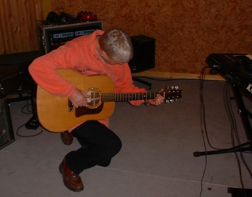 John with the Washburn Harvest guitar