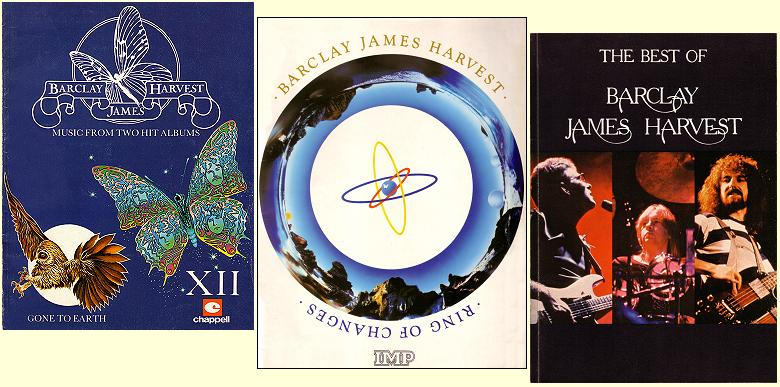 Barclay James Harvest songbooks