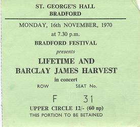 Bradford St. George's Hall, 16th November, 1970, courtesy Gordon Hodgson